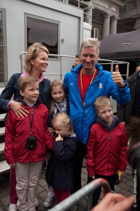 20 km door Brussel Prins Filip loopt mee