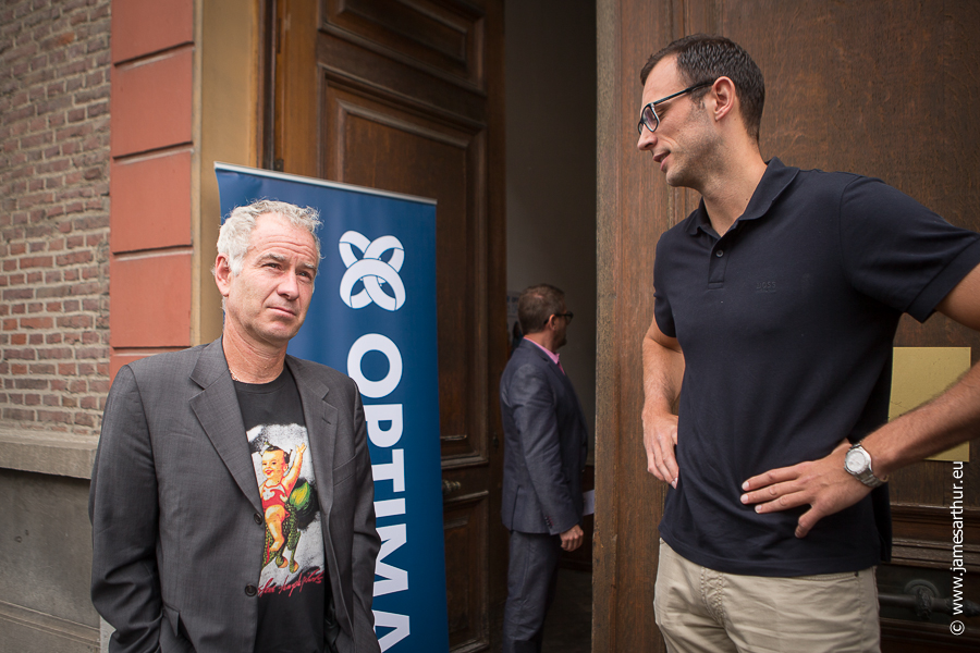 John McEnroe en Thomas Van Den Spiegel