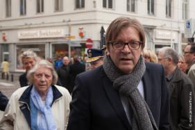 Guy Verhofstadt met moeder