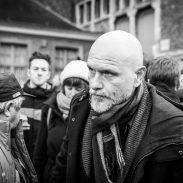 Begrafenis Luc De Vos, Mich Walschaerts, Kommil Foo.