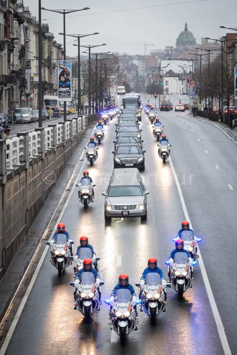 Begrafenis Fabiola in Brussel