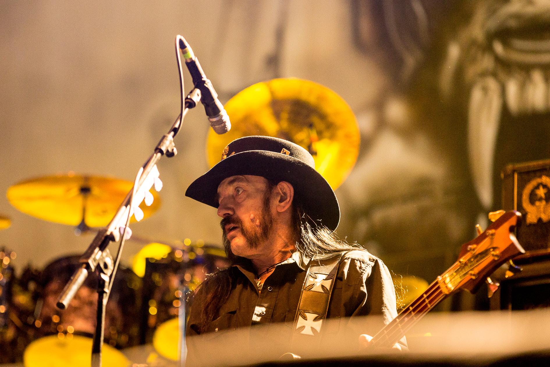 Lemmy Kilmister of Motörhead performing at day 3 of the Lokerse Feesten festival