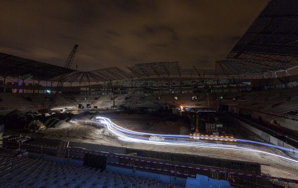 Ghelamco Arena in Gent, the making off...