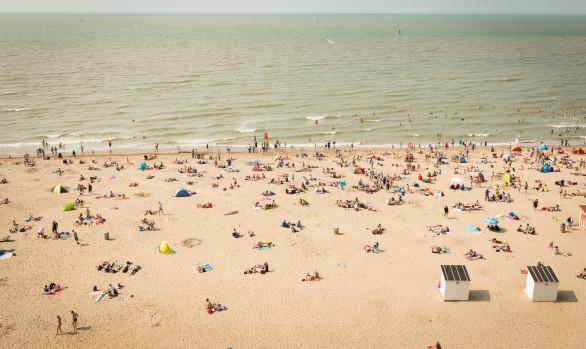 Strand, Oostende, juli 2014