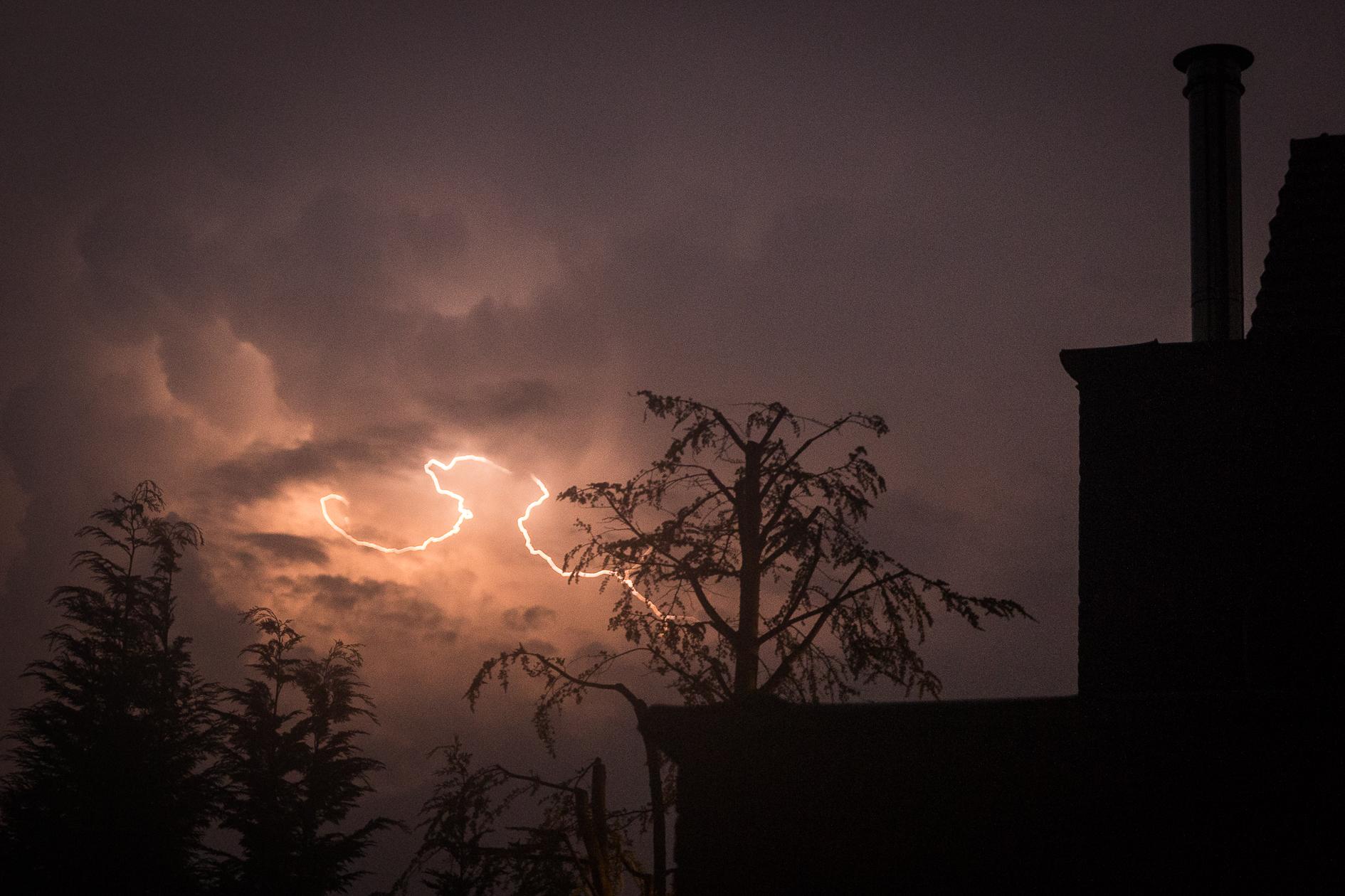Onweer en bliksem in Gent