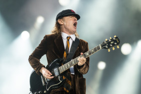 Angus Young of ACDC performing at Rock or Bust tour in Dessel