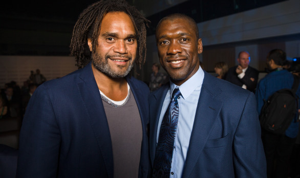 Karembeu & Seedorf, Brussel, September 2015