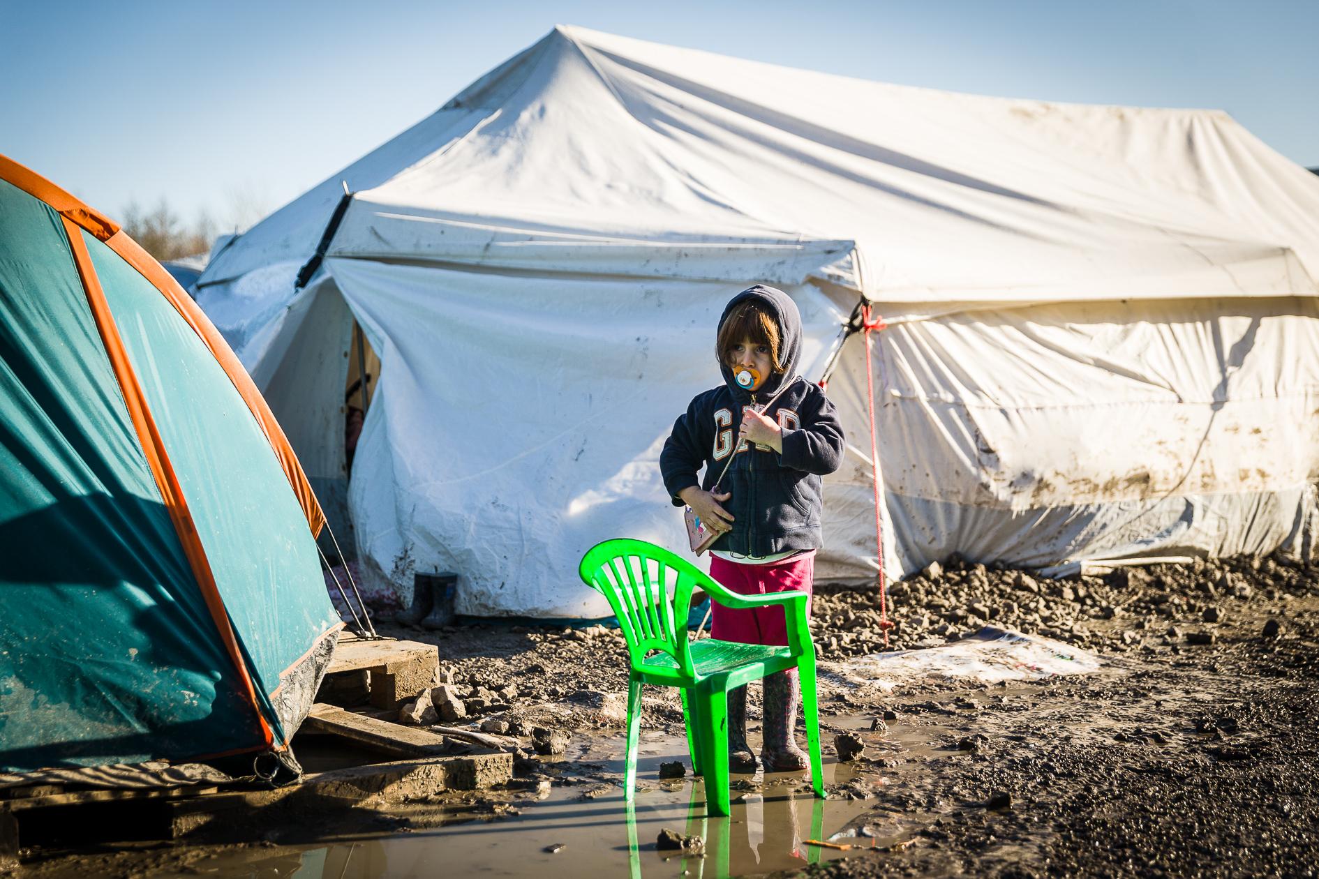 Refugee camp Grande-Synthe