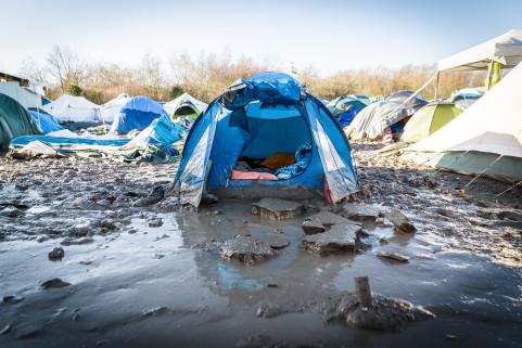 Refugee camp in Grande-Synthe (France)