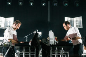 Pukkelpop 2016, Stephen and David Dewaele from Soulwax performing at the Dance Hall.
