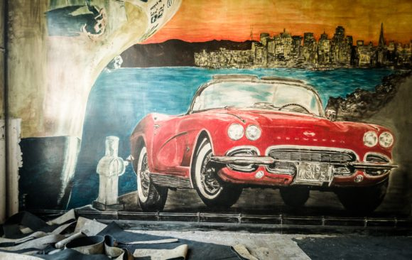 Retro graffiti Snookerpalace - September 2016 - Gent