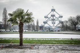 Atomium Brussels during winter