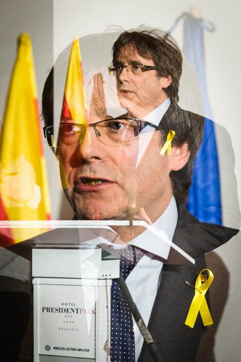 Carles Puigdemont voor Belga Agency