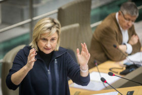 Plenaire Zitting Vlaams Parlement, Hilde Crevits.