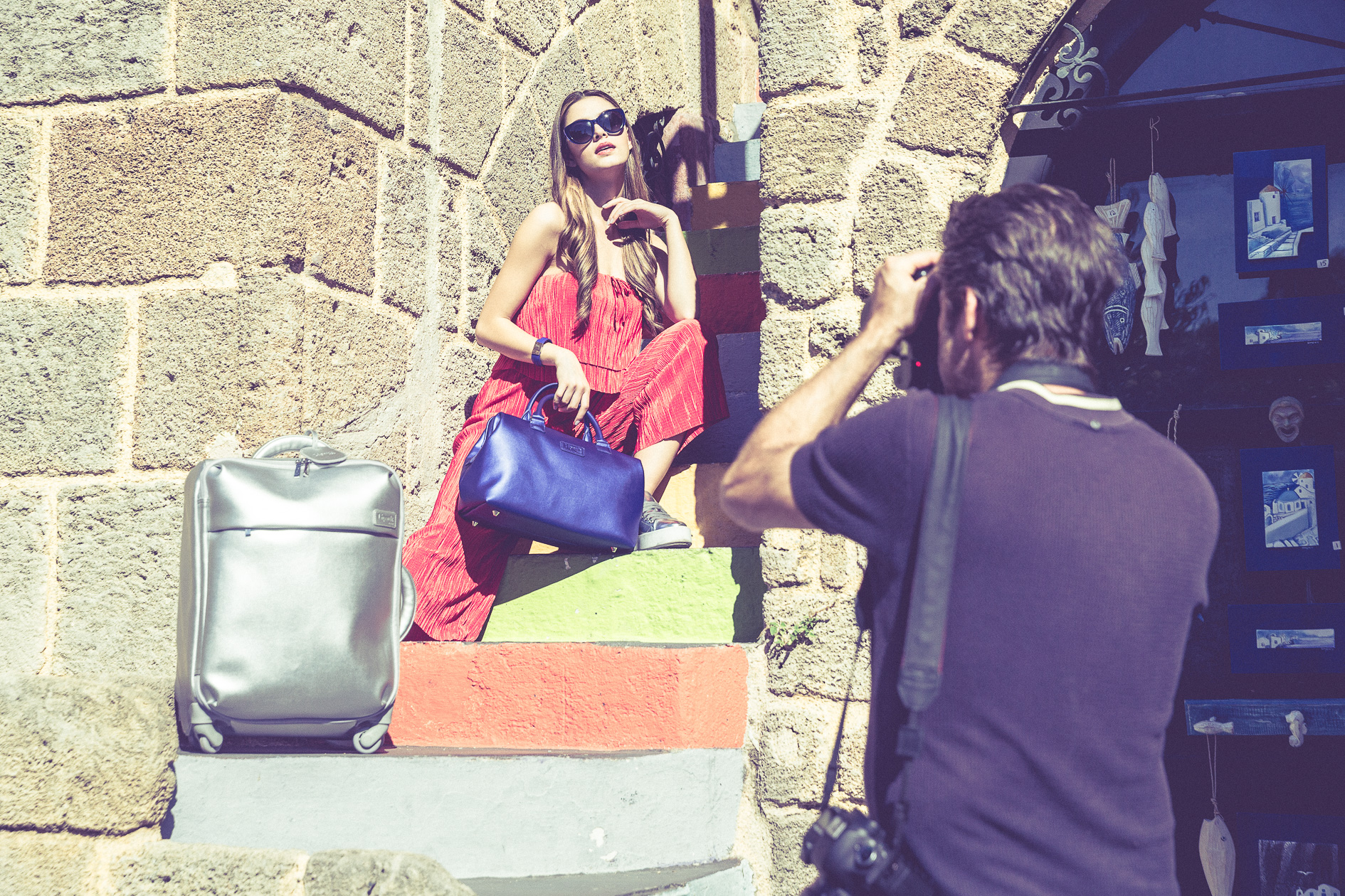 Assistant photographer for Lipault handbags fashion shoot