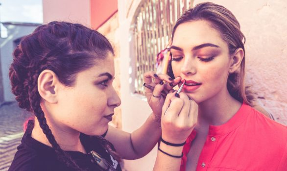 Assistant photographer for Lipault handbags fashion shoot