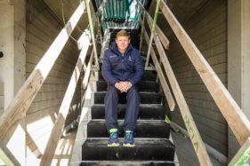 Hein Vanhaezebrouck, ex-hoofdtrainer KAA Gent bij het zelf ontworpen Oefencentrum in Oostakker
