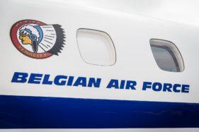 Luchtvaartdag in Luchthaven van Oostende-Brugge, Belgian Air Force, Luchtcomponent, staatsvliegtuig, militair vliegtuig België.
