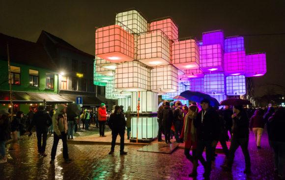 Lichtfestival Gent 2018 voor en door mensen voor HLN