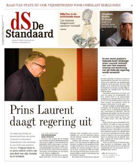 Prins Laurent op bezoek in tentoonstelling voor God & Geld in Caermersklooster Gent